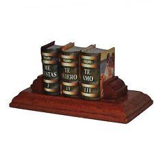 Set of 3 Miniature HB Books Te Amo, Te Quiero, Me Gustas includes wooden stand