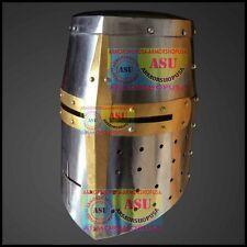 Topfhelm Kreuzritterhelm Ritter helm Rüstung Mittelalter Wikinger Kostüm Helm