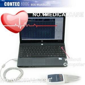 CONTEC ECG Workstation System,Portable 12-lead Resting PC based EKG Machine