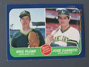 1986 FLEER #649 JOSE CANSECO MAJOR LEAGUE PROSPECTS ROOKIE NM-MT MINT RC