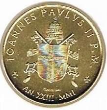 Vaticaan 2001 vergulde / gold plated 200 lire (goud059)