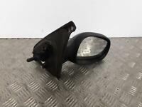 2005 RENAULT CLIO Right Drivers O/S Manual Wing Mirror Black