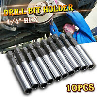 10pcs Hex Magnetic Nut Driver Set Socket 1/4'' Shank Impact Drill Bits Holder Us