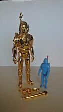 8 INCH SCALE GOLD CHROME PLATE STAR WARS BOBA FETT KIT BASHED FIRST 12 21 CUSTOM
