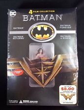 BATMAN 4 Film Collection DVD Wonder Woman promo w/figure
