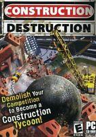 CONSTRUCTION DESTRUCTION - EMPIRE TYCOON SIM PC GAME