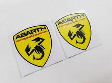 Fiat 500 / 595 / 695 Abarth competizione wing Decals / Stickers 60mm tall
