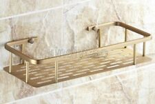 Antique Brass Wall Mounted Bathroom Soap / Sponge Shower Storage Basket