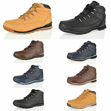 NEW MENS LACE UP HIKING WALKING CASUAL OUTDOOR WORK  ANKLE BOOTS SHOES SIZE