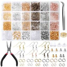 2500Pcs DIY Earring Making Supplies Kit with Earring Hooks Jump Rings pliers