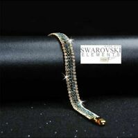 Swarovski Genuine Crystal 18K Gold plated Bracelet + Gift box