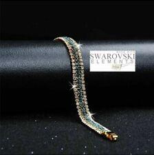 Swarovski Genuine Crystal 18K Gold plated Bracelet + Gift box