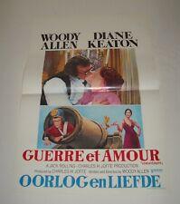 WOODY ALLEN LOVE and DEATH BELGIAN MOVIE POSTER DIANE KEATON GGA COMEDY ROMANCE