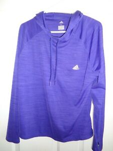 Adidas Climalite Ladies' XL Pullover Long Sleeve Hoodie Shirt - Superb Color!NEW