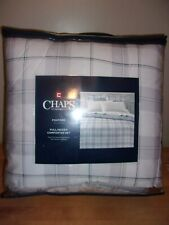 Chaps Home Foxford Gray Plaid 3PC Full/Queen Comforter Set   NIP