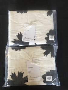 Set/2 Pottery Barn Lilo Quilted Standard Shams Gorgeous Print!!