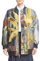 * NWT Adam Lippes 'Eden' Floral Jacquard Bomber Jacket Size Small Yellow, $3940