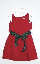 NWT Ralph Lauren Infant Girls Raspberry Pink Corduroy SLVLS 2pc Dress Set sz 12M