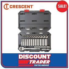 Crescent 27Pc 3/8″ Dr. 6 & 12 Point Metric Standard and Deep Socket Set CSWS9