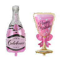 UK_ AM_ UK_ LC_ Champagne Bottle Glass Foil Balloon Happy Birthday Wedding Party