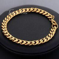 Men's Stainless Steel Cuban Chain link  Bracelet