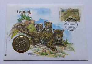 Afghanistan 50 Afghanis 1987, Cover-Stamp, Leopard