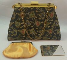 Vintage, Edwards Bag Ltd,  Baguette Coin Purse & Mirror, 1950's Gorgeous!