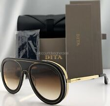 49fffb668f987 DITA ENDURANCE 88 Sunglasses Black 18K Gold Brown Gradient Lenses DTS-55-01  NWT