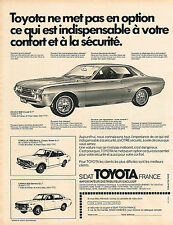 PUBLICITE ADVERTISING 035  1973  TOYOTA  CELICA   COROLLA 1200 berlina & CARINA