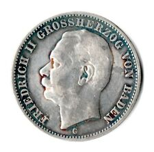 3 Mark - Baden - 1911 - G - Friedrich II. - Echte alte Münze (l1n284)