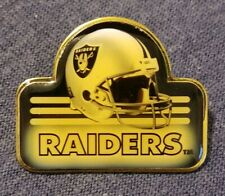 Vintage Oakland Raiders Helmet NFL Collectors Button Pin - RARE!!