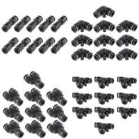 40x Tube OD 6mm 1/4'' Y Union Pneumatic Push Connector Air Line Quick Fittings