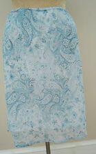 Tailor by B.Moss Blue Baby Blue Floral Skirt Size 8
