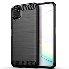 For Huawei P40 lite Case Carbon Fibre Gel Cover Ultra Slim Shockproof