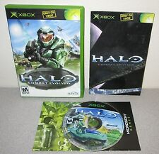 HALO Combat Evolved XBOX Complete w/Manual Bungie Essential Shooter Black Label