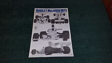 Yardley McLaren M23 Tamiya 1/12 Scale Kit #12017 Instruction Book(Japanese)