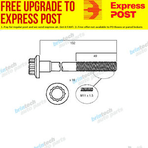1991-1994 For Mazda 626 GE10 KL Head Bolt Set