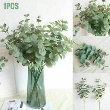 Home Decoration Artificial Eucalyptus Fake Leaf Plastic Silk Green Plant Garland
