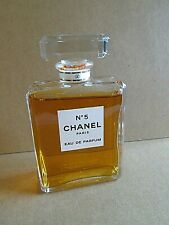 "CHANEL NO 5 EAU DE PARFUM 4 3/8"" FACTICE DUMMY DISPLAY BOTTLE 100 ML 3.4 OZ RARE"