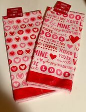 Valentines Day Kitchen Towels Hearts Wreath Cupid Pick Decor Gel Clings