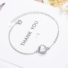 Muye 925 Sterling Silver Moonstone Chain Bracelet For Women Birthday Jewelry