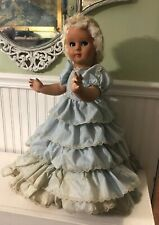 "Vintage CRYING DOLL MOD. BREVE MILANO-ITALY Hooped Dress 24"" Rare"