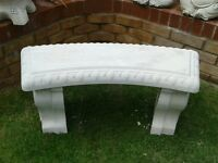 Garden bench curved stone / concrete bench not wooden garden bench