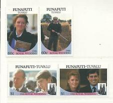 Tuvalu Funafutti set of 4 Wedding  Mint Unhinged/MNH as Issued Sold as per Scan
