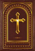 Edle Einladungskarte zur Konfirmation / Kommunion mit Goldprägung + Umschlag