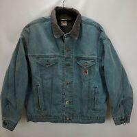 Vintage Carhartt Mens Blanket Lined Duck Canvas Trucker Jacket Size XL Green