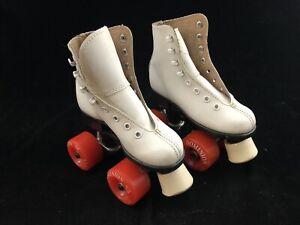 DOMINION ESPRIT White ROLLER SKATES Orange Wheels Girls 9