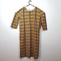 Zara Womens Tartan Checkered Check Print Dress Size Large