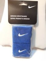 NIKE WRISTBANDS Blue UNISEX 2 in Pack