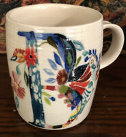 "Starla M. Halfmann Anthropologie Letter Initial Monogram ""B"" Mug Cup."